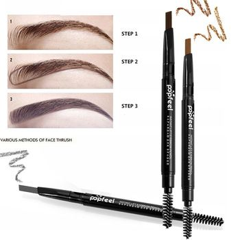 Double-end Automatic Eyebrow Pencils Waterproof Long Lasting Brown Pigments Eyebrow Tattoo Makeup Eye Brow Pen Cosmetic  Price: 1.96 USD