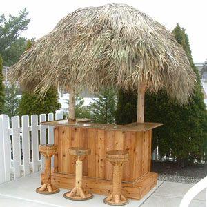 Tiki Bar - Red Cedar Tiki Bar - Custom Tiki Bars For Sale ... on Backyard Tiki Bar For Sale id=68891