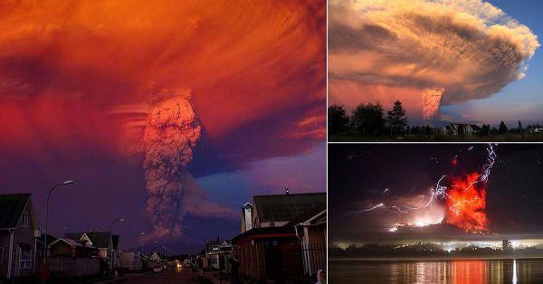 El volcán Calbuco, en Chile, había estado inactivo desde hace 43 años. Hace unos días se reactivó emanando una gran columna color gris, hecha de humo y ceniza.   Estas son algunas de las imágenes tomadas por los allí presentes de este espectacular fenómeno:          7 horas después de su primera actividad, el volcán volvió a entrar en erupción durante la madrugada. Relámpagos, gases, cenizas y expulsión de material incandescente fueron parte de este retrato de la fuerza de la naturaleza…