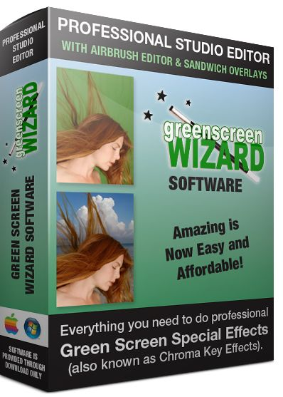 Green Screen Wizard, Green Screen Software (Chroma Key Software) for Replacing Green Screen Background on Photos