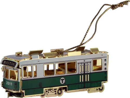 Green Line Trolley Great Boston Christmas Tree Ornament