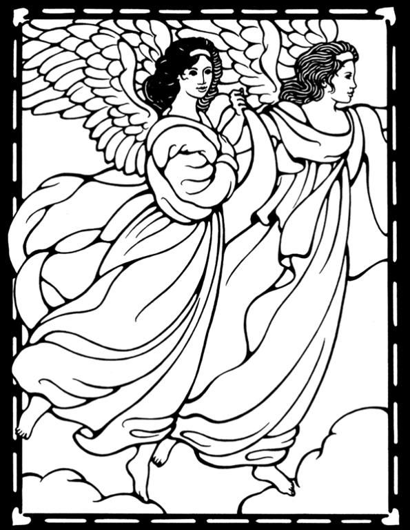 114 best Coloring- angels images on Pinterest | Coloring books ...