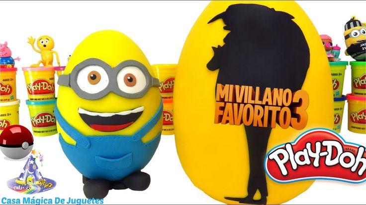 Huevo Sorpresa Gigante de Gru 3 Mi Villano Favorito 3 y Minion Bob de Pl...