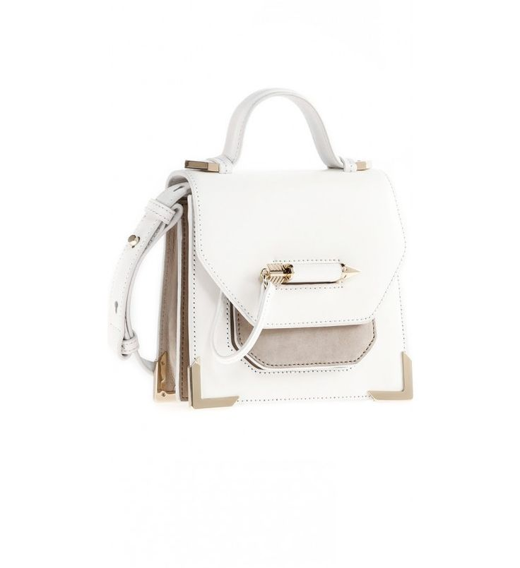 MACKAGE- RUBIE-S6B | WHITE MINI CROSSBODY BAG