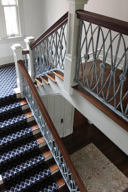 Antique White Railing | Wrought iron staircase, Railing ...