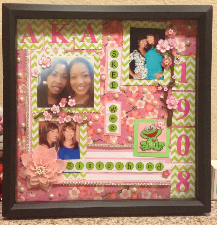 sorority scrapbook frame aka 1908