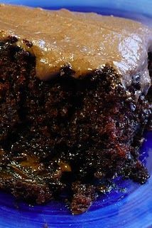 wacky cake... one pan and no egg, no milk, no butter!  also known as the depression cake. so moist!!  This was the only cake my Mom ever made... we loved it!