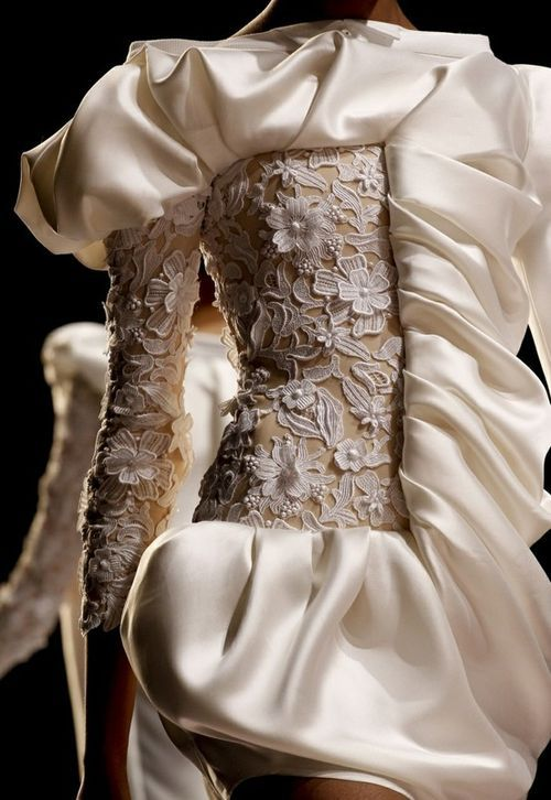 white ruffle dress adornment