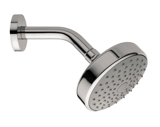 Techno 120 single function fixed shower head - with 45 degree wall arm -http://www.bathstore.com/products/techno-120-single-function-fixed-shower-head-with-45-degree-wall-arm-2949.html