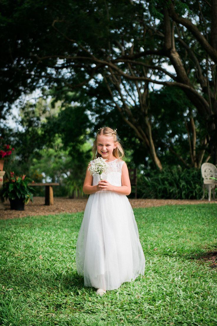 Flower girl posy of babies breath created by Madison in Bloom Floral Design. www.madisoninbloom.com.au https://www.instagram.com/madisoninbloom/  https://www.facebook.com/MadisoninBloom/