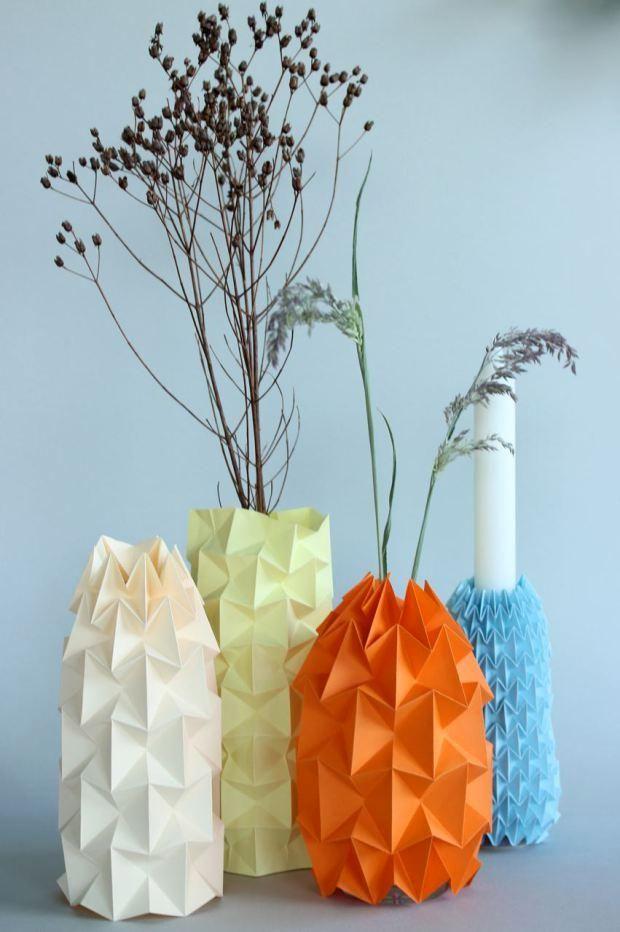 8 Best Paper Vase Images On Pinterest Paper Vase Diy Origami And