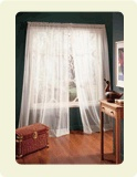 Window curtains are made of lightweight fabric that are generally suspended from a rod by either tabs or rings. Alone, window curtains are not fully ideal for regulating light and privacy; they tend to be more decorative, adding style and colour to rooms.