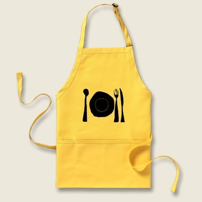 Cooking in a pretty apron will result in better tasting food...