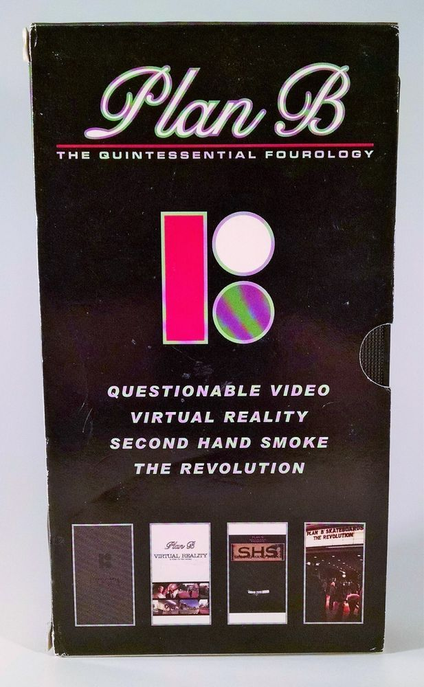 Plan B Questionable Skateboard VHS Skate Video Skateboarding Fourology Tape 1