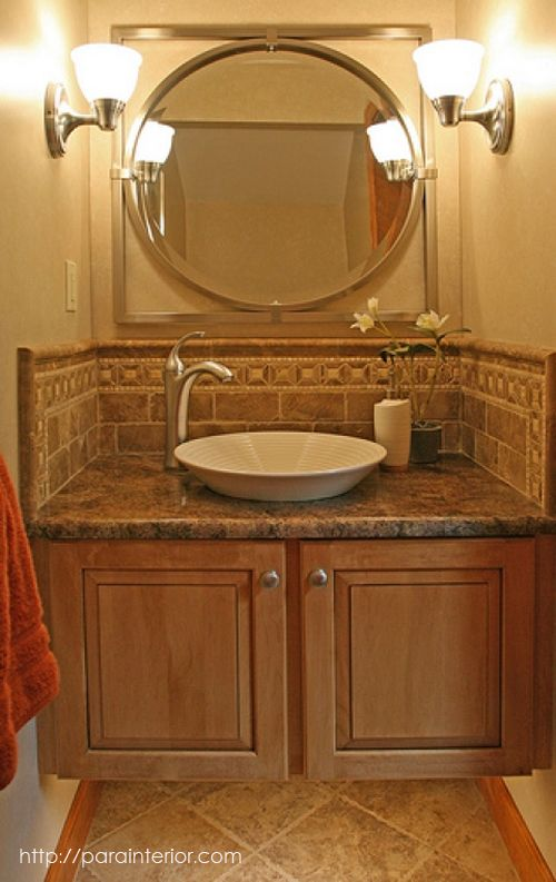 249 best images about tile stone on pinterest for Small half bathroom design