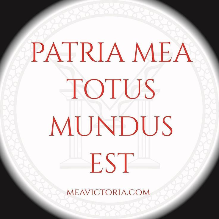 "PATRIA MEA TOTUS MUNDUS EST!  . ""NON SUM UNI ANGULO NATUS PATRIA MEA TOTUS HIC MUNDUS EST"" - Seneca the Younger ""I was not born for just one corner; my home is this whole world."" . Express your love for the world by loving the people of the world. . . #stoicism #renaissance #grecoroman #meavictoria #AMOR #innerstrength #borntowin #stateofmind #globalcitizen #worldcitizen #seneca #civismundi"