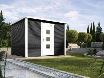 Gartenhaus Designhaus wekaLine 413 Gr. 1 45 mm anthrazit
