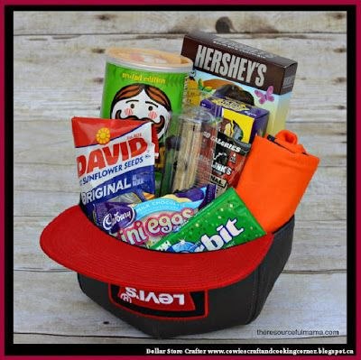 17 best easter for teenage boys images on pinterest easter dollar store crafter teenage boy baseball hat easter basket negle Choice Image