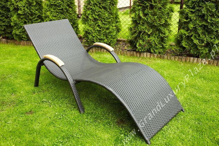 Leżak ogrodowy z technorattanu REST