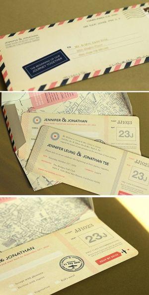 invitación boda motivo viaje
