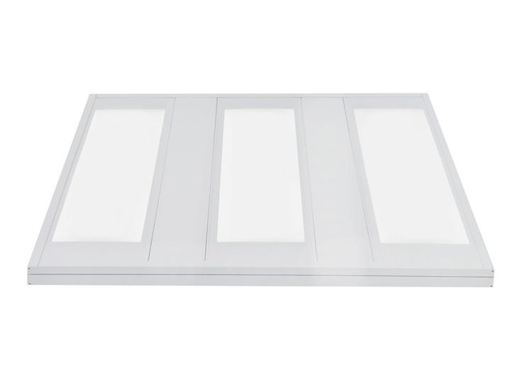 LED Ceiling Panel Nova Range: 600x600 3 Light Strip Panel in Cool White