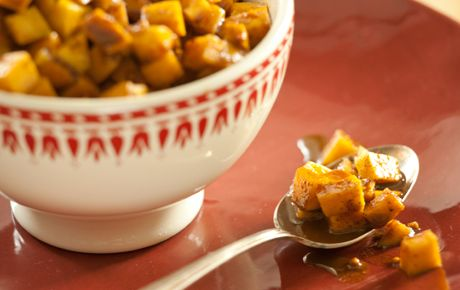 This sweet and sour mango condiment is based on South African atchar, pickled mango. Traditionally its left out in the sun for a couple weeks to age but ours can be enjoyed the next day. Keep up to a week and its assertive flavor will intensify as the mango softens. Serve with grilled meats and curried vegetables or simply with brown rice.