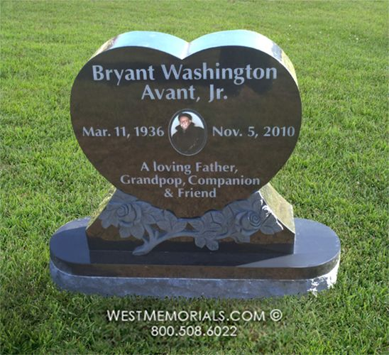 Avant Heart Shaped With Ceramic Portrait Headstone In