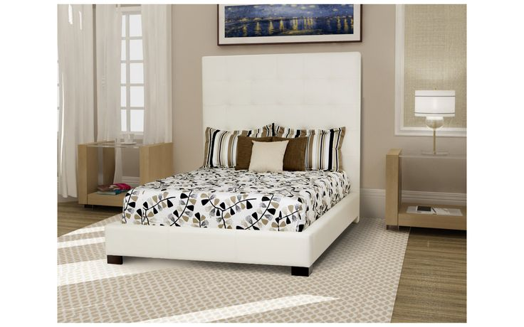 Queen bed Nathalie - Contemporary Style - Jaymar Collection. Diamond-tufted headboard