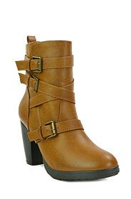 Buckle Ankle Block Heel Boots from Mr Price R249,99