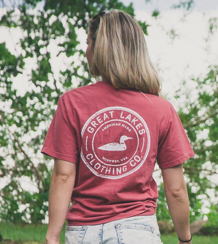 Great Lakes Clothing Co. Washed Red vintage tee
