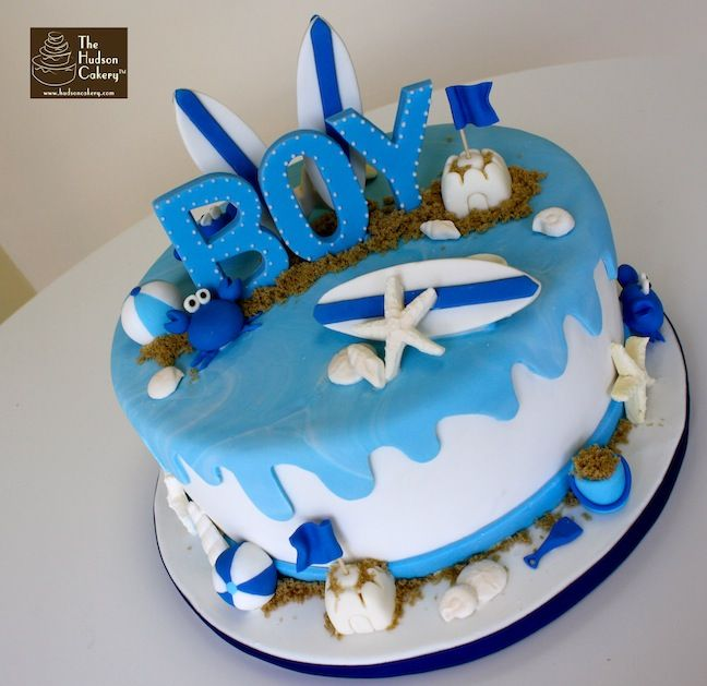 baby boy shower  cakes | Beach Boy Baby Shower {Baby Shower} | The Hudson Cakery