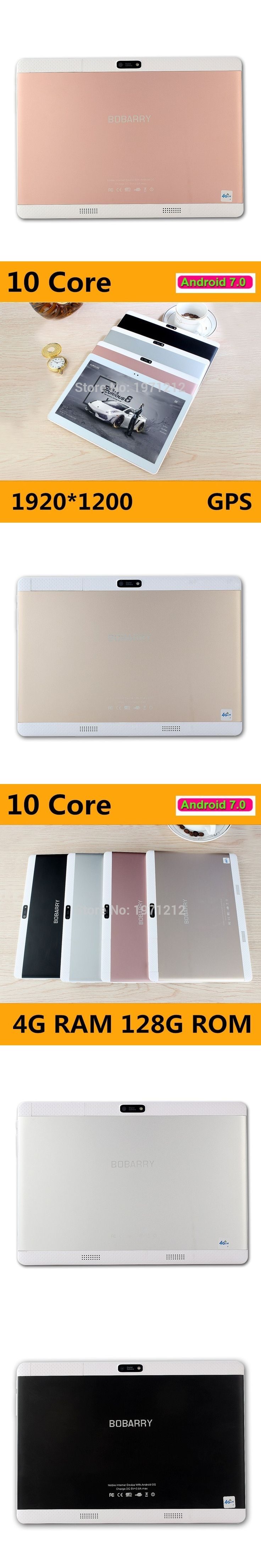 10.1 inch Deca Core 3G 4G Tablet Android 7.0 RAM 4GB ROM 128GB 8.0MP Dual SIM Card Bluetooth GPS Tablets 10.1 inch 4G tablet pc