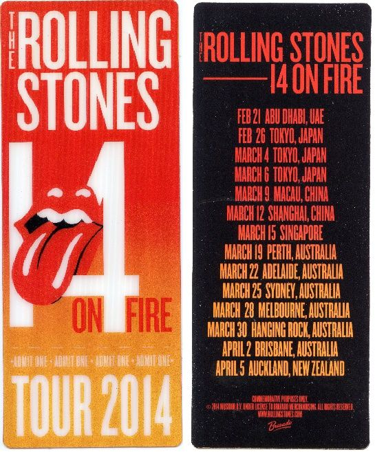 The Rolling Stones - On Fire Tour 2014