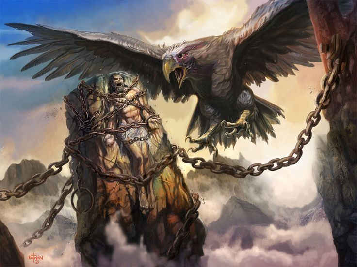 Prometheus is a god in Greek mythology who was chained to a rock and had his liver torn out by an eagle every day. Walter is chained down and his frustrations in the world like how he cannot provide is his eagle.
