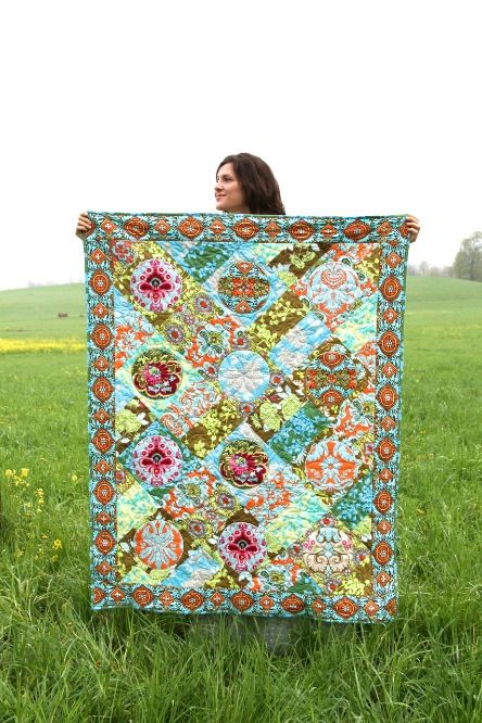 Amy Butler's Belle Fabrics, FREE quilt pattern available at amybutlerdesign.com.