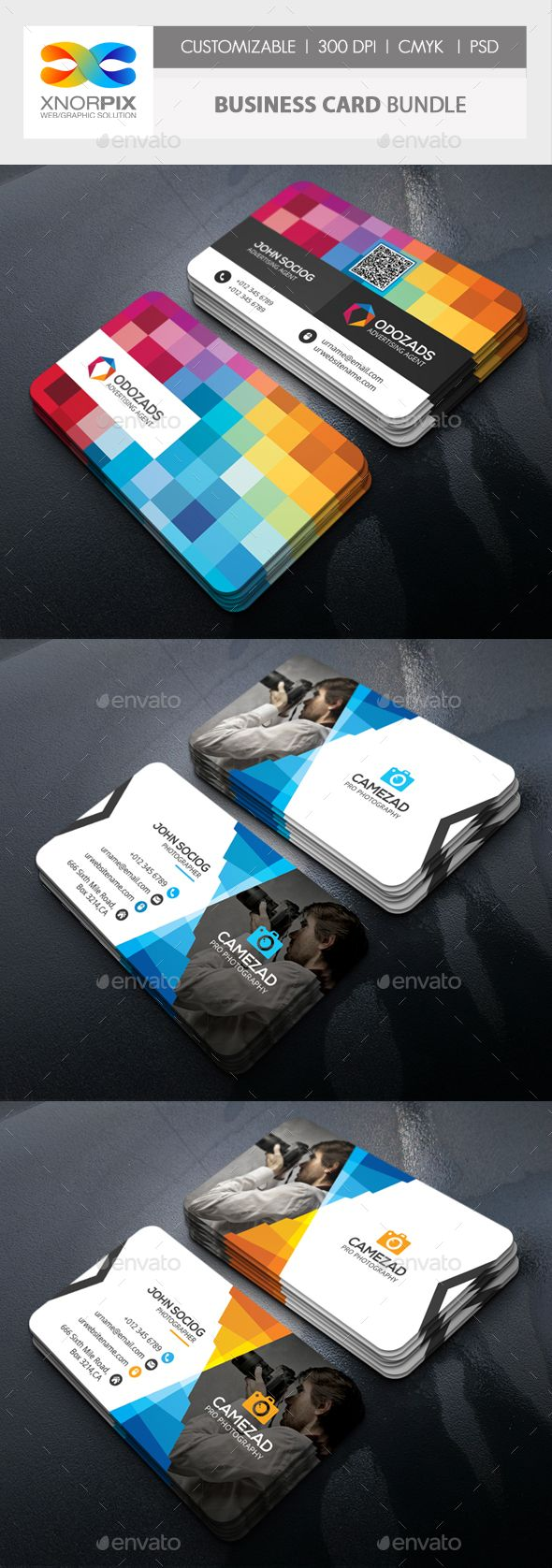 Business Card Bundle - #Corporate #Business #Cards Download here: https://graphicriver.net/item/business-card-bundle/18822861?ref=alena994