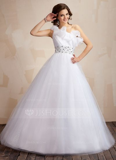 Prom Dresses - $176.99 - Ball-Gown One-Shoulder Floor-Length Organza Tulle Prom Dress With Ruffle Beading Sequins (018043822) http://jjshouse.com/Ball-Gown-One-Shoulder-Floor-Length-Organza-Tulle-Prom-Dress-With-Ruffle-Beading-Sequins-018043822-g43822?ver=xdegc7h0
