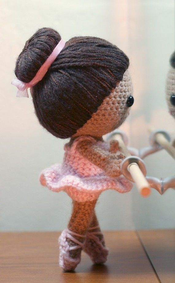 Knitting Pattern Ballerina Doll : Crochet Pattern- Brisa the ballerina amigurumi doll Jade ...