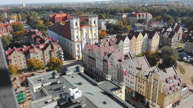 Widok na miasto Głogów z wieży ratuszowej. / View of the city of Głogów from the town hall tower. | Głogów (Lower Silesian Voivodeship), Poland