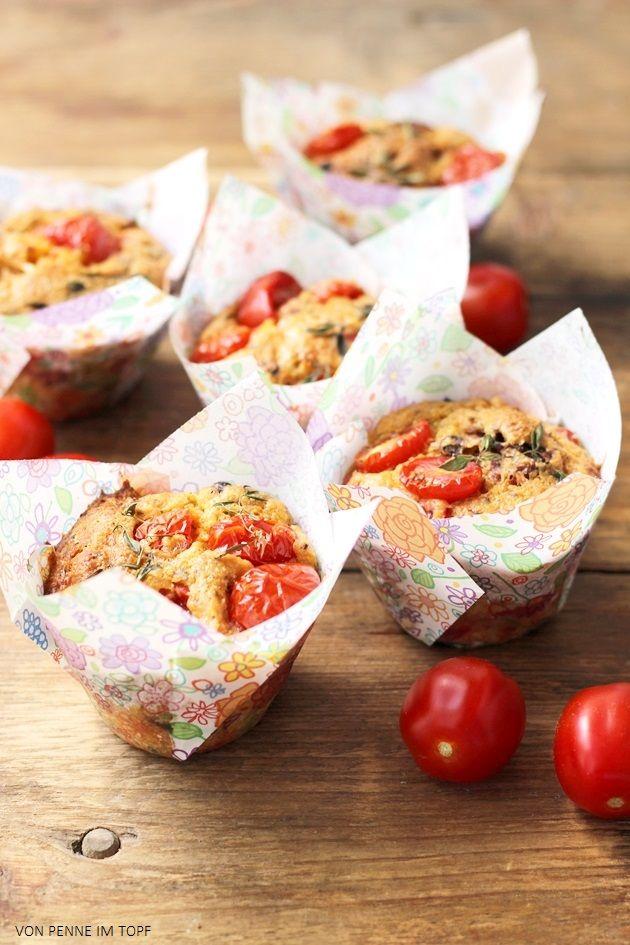 Penne im Topf: Tomaten - Muffins