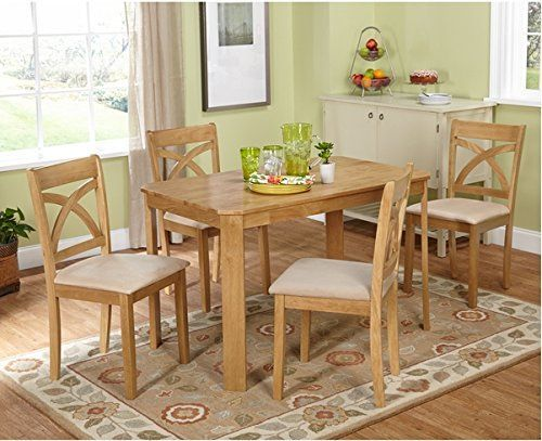 Create A Beautiful Interior Dining Space With The Stylish Light Oak Finish Dining  Table And Elegant Curved X Back Dining Chairs. The Perfect Addition To Any  ... Design