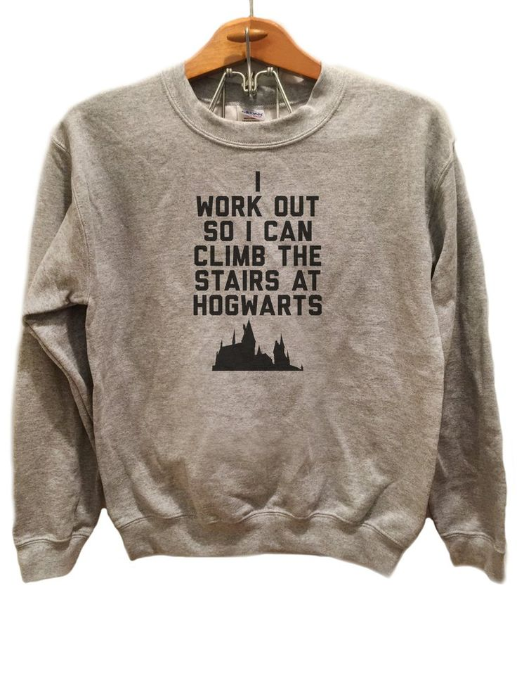 Training for the Stairs at Hogwarts - Sweater Available sizes for this listing are Small, Medium, Large, Extra Large, 2XL, 3XL. All sizes are standard sizes. Crew Neck sweatshirt Image is sublimated o