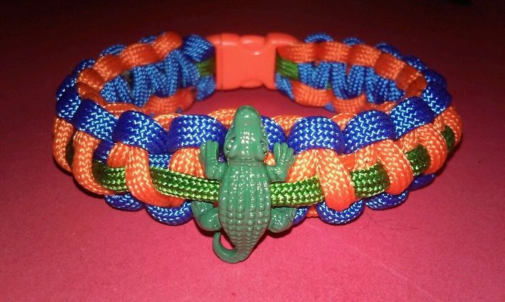 """HOT NEW!!! GATORS PARACORD BRACELET SPORTS 550 CORD UNIVERSITY FLORIDA GATOR CHARM UF 7.5"""" #PARACORD 10% DONATED TO WOUNDED WARRIOR PROJECT. SUPPORT OUR TROOPS"""
