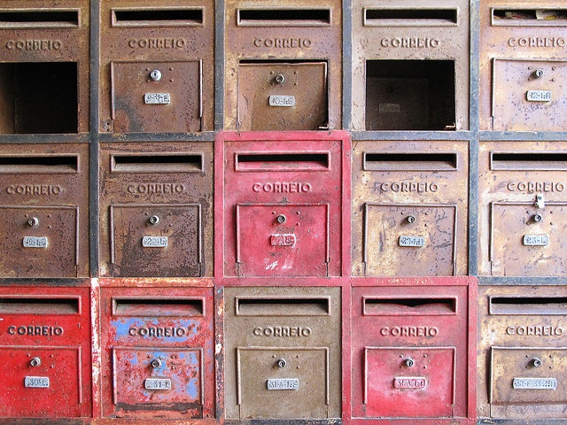 post office mailboxes/or is it in apartment buildings?