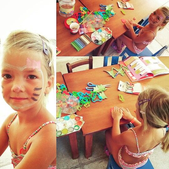 """Plasteline, clay, crafts and face-painting """"hello kitty"""""""