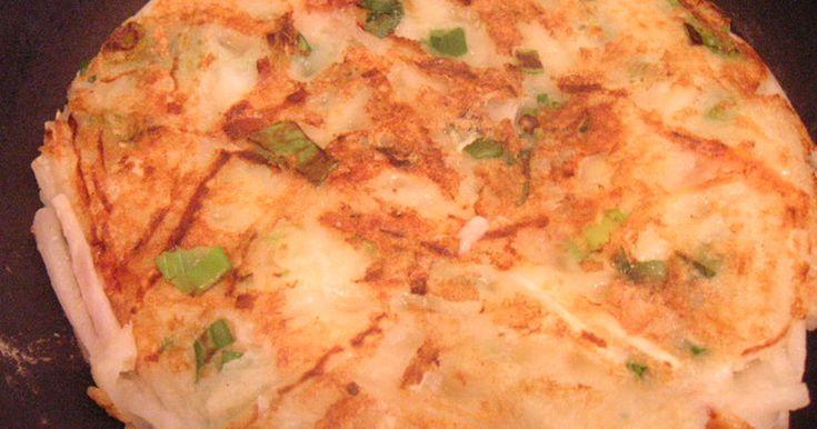カリカリモチモチ♪千切りで簡単に作る大根餅です。 2011.2.20に1000人つくれぽ頂きました。有り難うございます!
