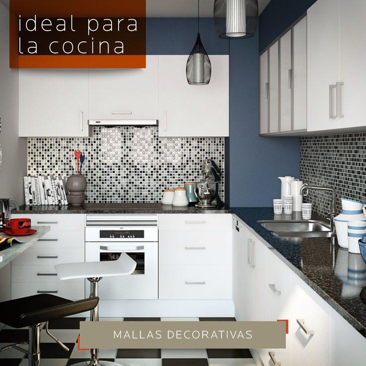 Cambia el look de tus paredes de tu cocina usando mallas for Guardas decorativas para cocina
