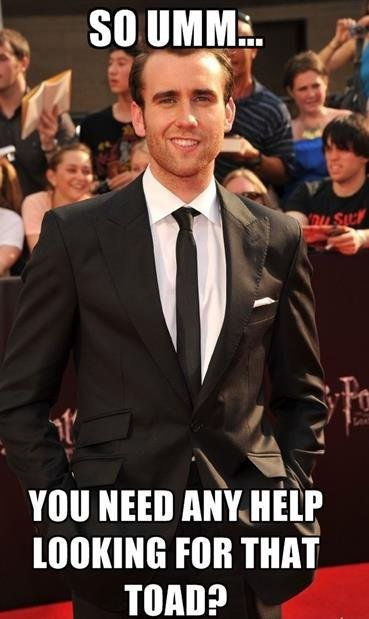 Neville Longbottom. Whoa! Coming out from Hogwarts really did a number on