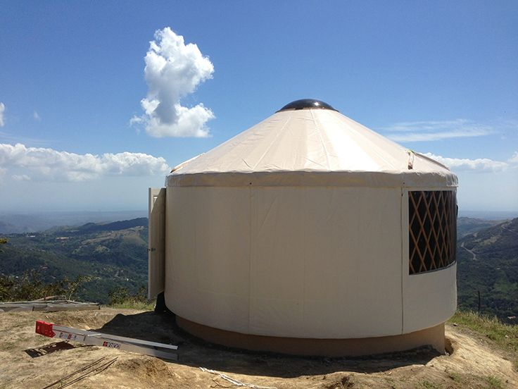 Rainier yurt on the edge of a cliff in Panama. the true cost of building a yurt