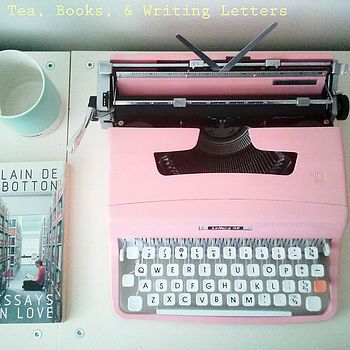 bespoke colour vintage typewriter by claire la secrétaire | notonthehighstreet.com This is gorgeous and I love it because it's pink and I love to write.
